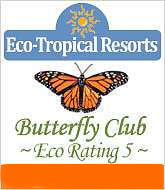 Eco Rating Logo from Eco Tropical Resorts for lodging's online eco rating exam