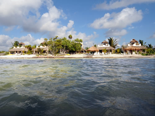 hotel restaurant maya luna mexico ecolodge in mahahual