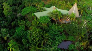 Finca Exotica Ecolodge Casa Grande aerial view