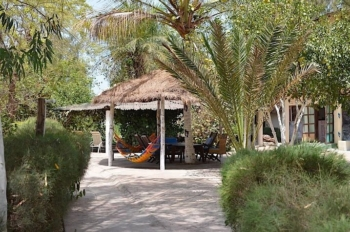 Lodges with perfect Eco Rating Score-Entrance to Footsteps Gambia