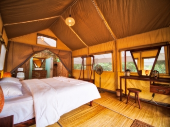 Inside Cardamom Tented Camp tent