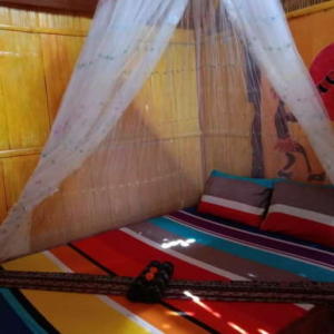 Double bed bamboo hut