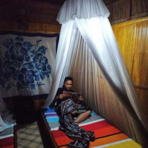 Twin bed bamboo hut